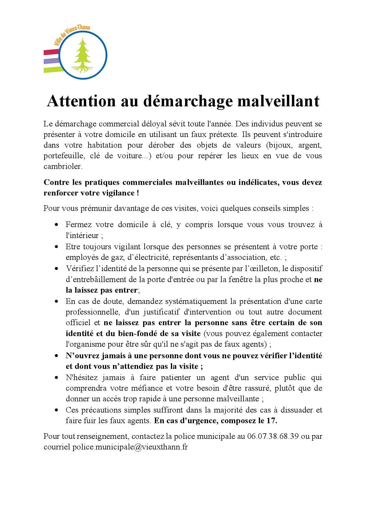 CP Attention aux arnaques sur Internet